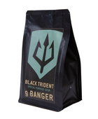 Black Trident Coffee 9 Banger, ground